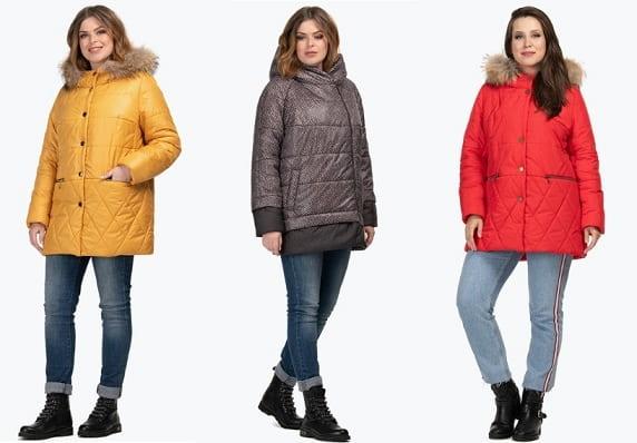 Женские куртки больших размеров в Lucky-bunny.ru