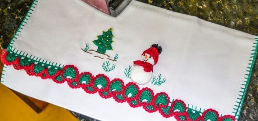Елочка и снеговик амигуруми. Схемы (2)
