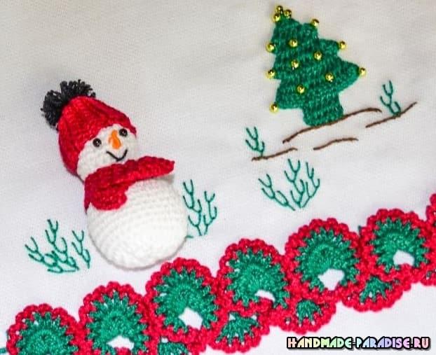 Елочка и снеговик амигуруми. Схемы (3)