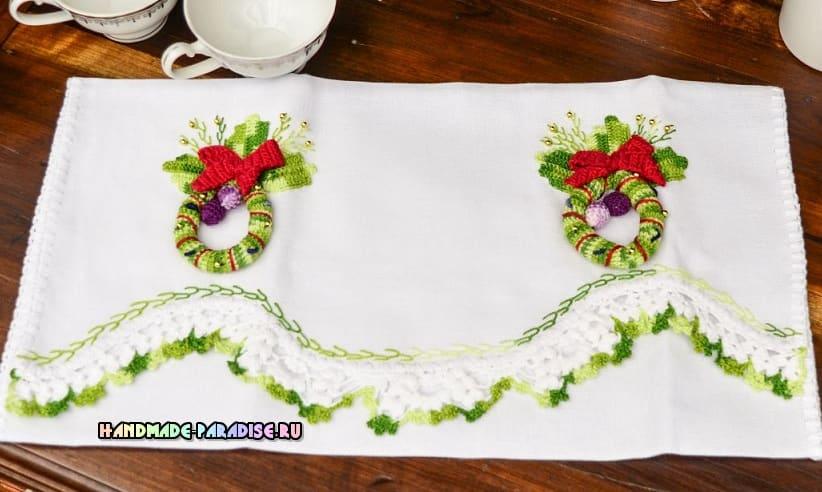 Рождественская гирлянда крючком (1)