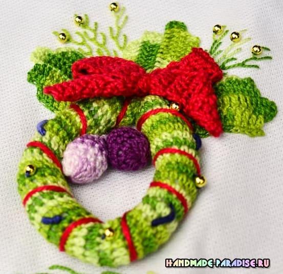 Рождественская гирлянда крючком (2)