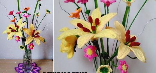 Цветы handmade. Лилия крючком (2)