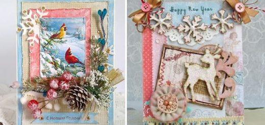 Новогодние открытки своими руками (3)