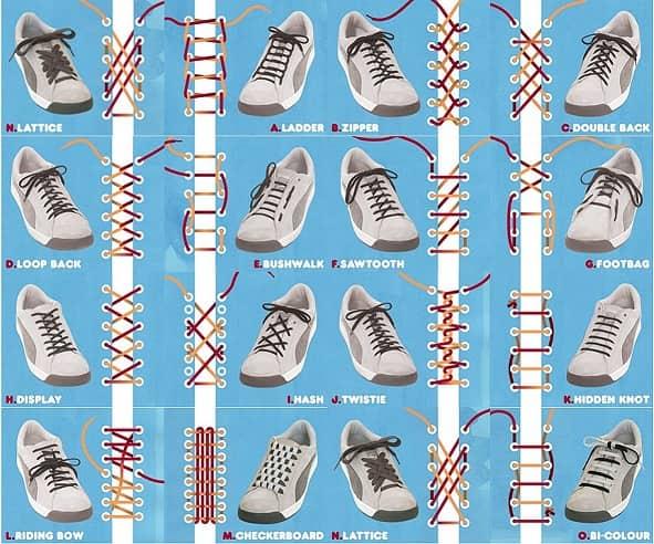 Оригинальные способы шнуровки белых Найков (3)