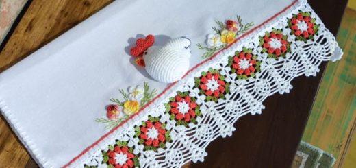 Курочка крючком на полотенце (2)