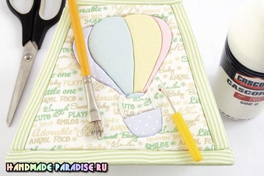Лампа в технике пэчворк без иголки (2)