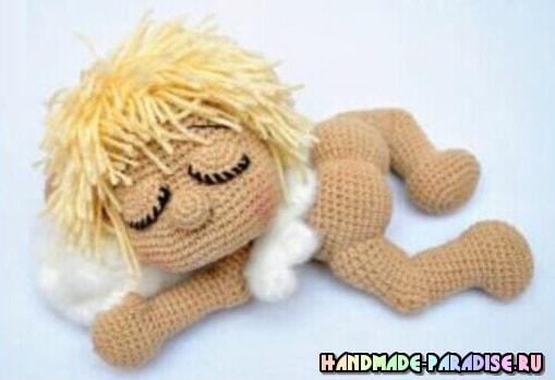 Малыш-сплюшка крючком. Описание вязания (7)