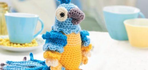 Попугай АРА крючком. Описание вязания (1)