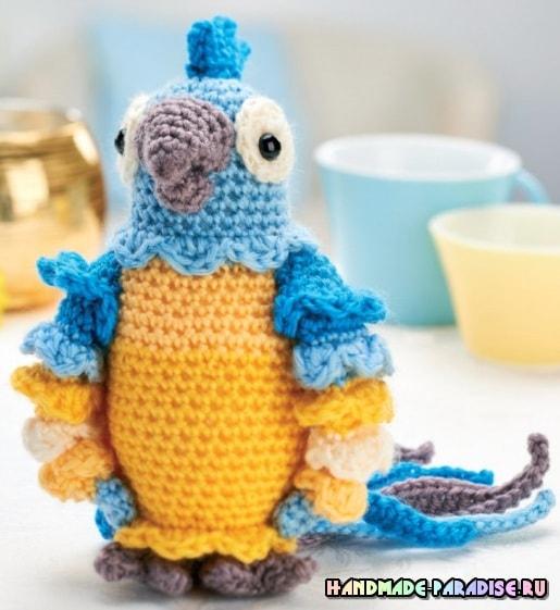 Попугай АРА крючком. Описание вязания (3)