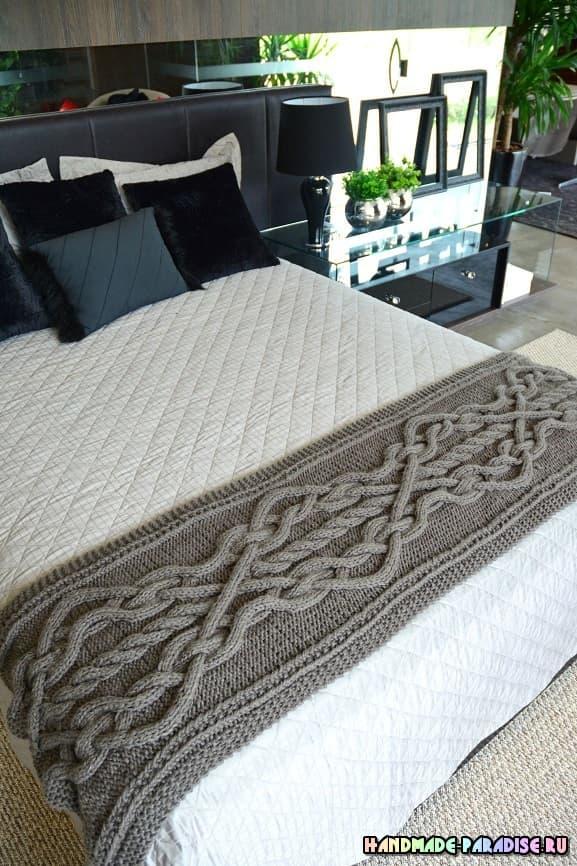 Дорожка спицами для кровати (1)