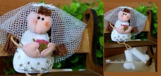 Куколка-невеста из фетра своими руками (1)