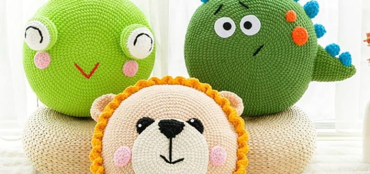 Подушки-игрушки крючком. Схемы вязания (2)