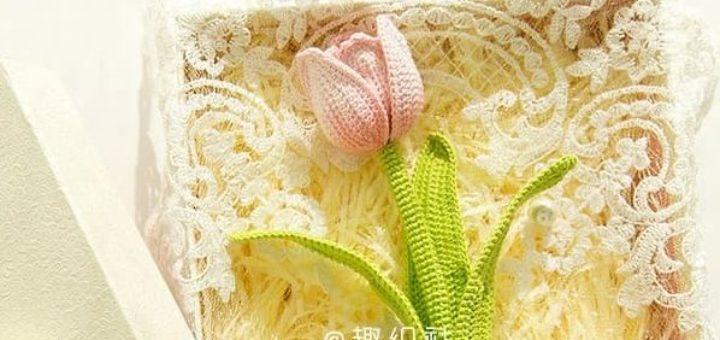 Тюльпаны крючком. Схемы вязания (2)