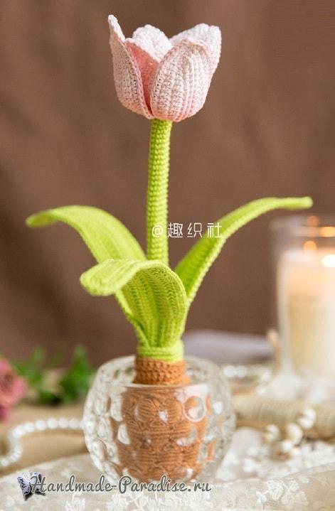 Тюльпаны крючком. Схемы вязания (3)