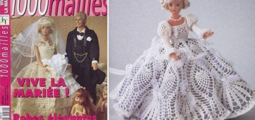 Вязаные платья для кукол. Журнал со схемами (2)