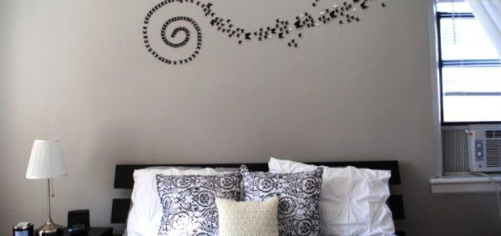 Лучшие способы украсить стену над кроватью