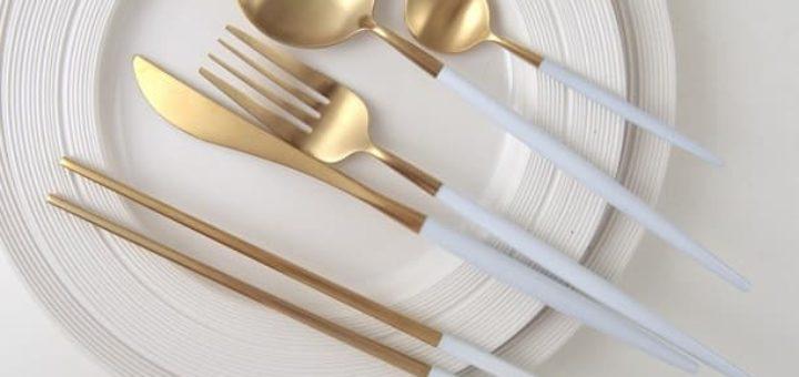 Золотые столовые приборы приборы (2)