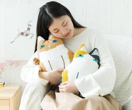Детские подушки Кошки крючком (1)