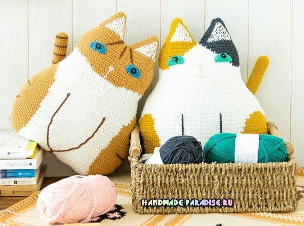 Детские подушки Кошки крючком (2)