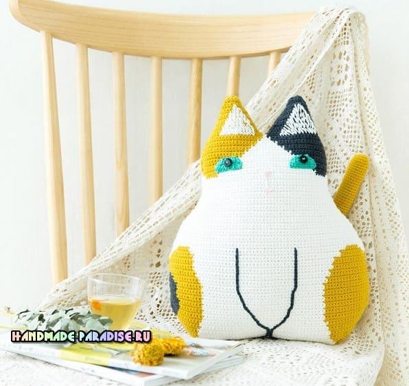 Детские подушки Кошки крючком (3)