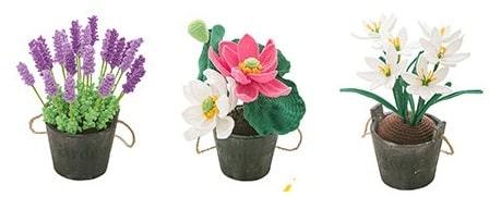 Комнатные цветы крючком