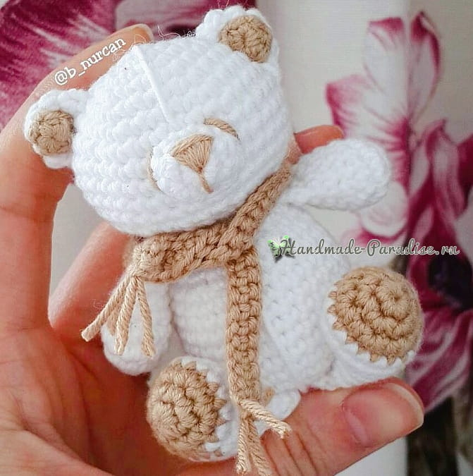 Белый медвежонок крючком (2)