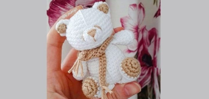 Белый медвежонок крючком (3)