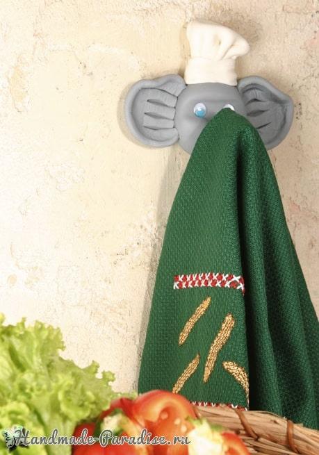 Лепка. Вешалка «Слоник» для полотенца (1)