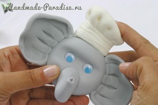 Лепка. Вешалка «Слоник» для полотенца (2)