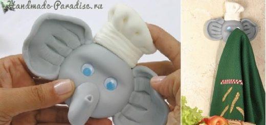 Лепка. Вешалка «Слоник» для полотенца (3)