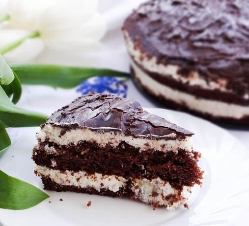 Пошаговый рецепт шоколадно-сливочного торта