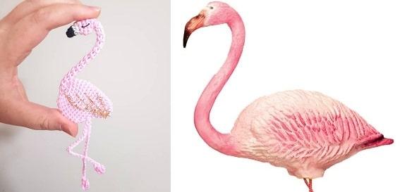 Розовый фламинго крючком (3)
