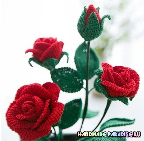 Розы крючком. Схемы вязания (2)