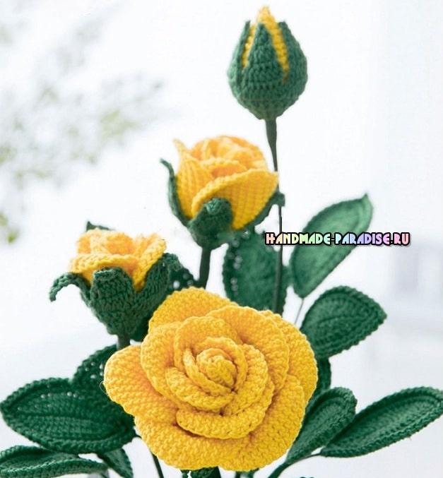 Розы крючком. Схемы вязания (3)