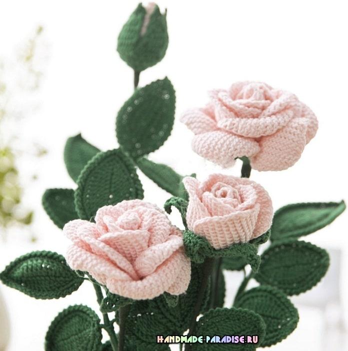 Розы крючком. Схемы вязания (4)