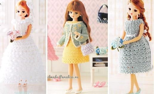 Вязаная одежда для кукол. Схемы вязания (2)