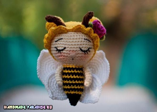 Пчелка крючком в технике амигуруми (2)