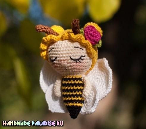 Пчелка в технике амигуруми