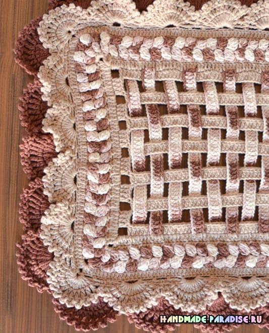 Салфетка-дорожка крючком красивым узором (2)