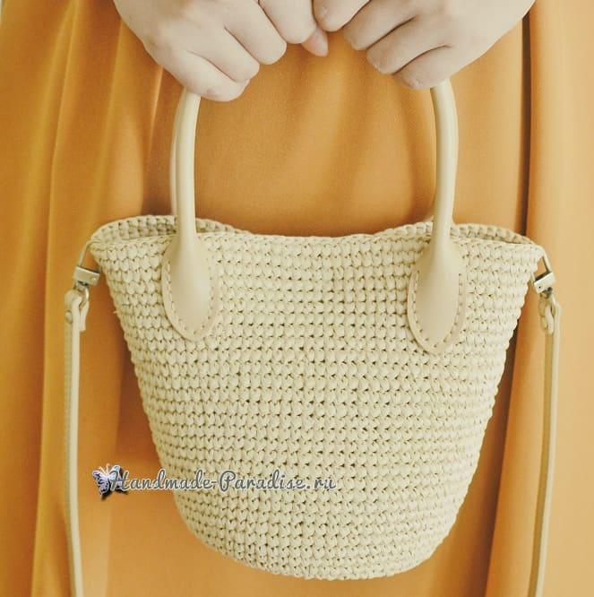 Стильная сумочка крючком. Схема вязания (1)