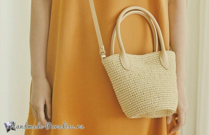 Стильная сумочка крючком. Схема вязания (2)