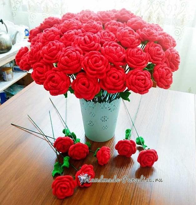 Миллион алых роз крючком (1)