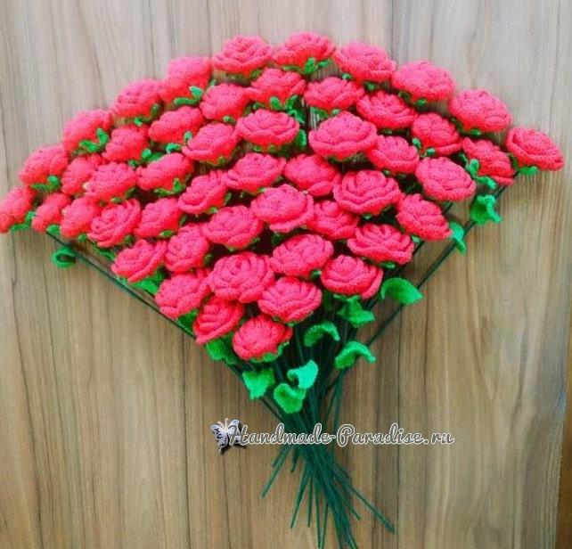 Миллион алых роз крючком (2)