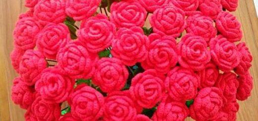 Миллион алых роз крючком (3)