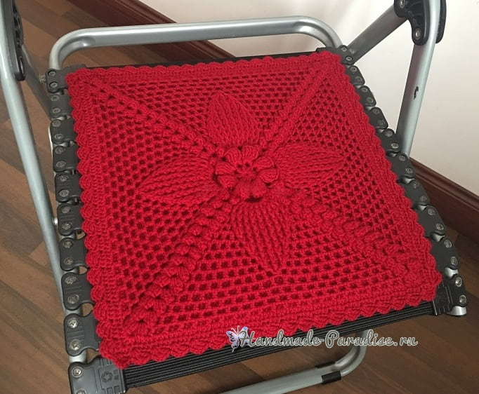 Подушка-сидушка для стула крючком