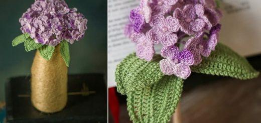 Схемы вязания крючком цветов гортензии (2)