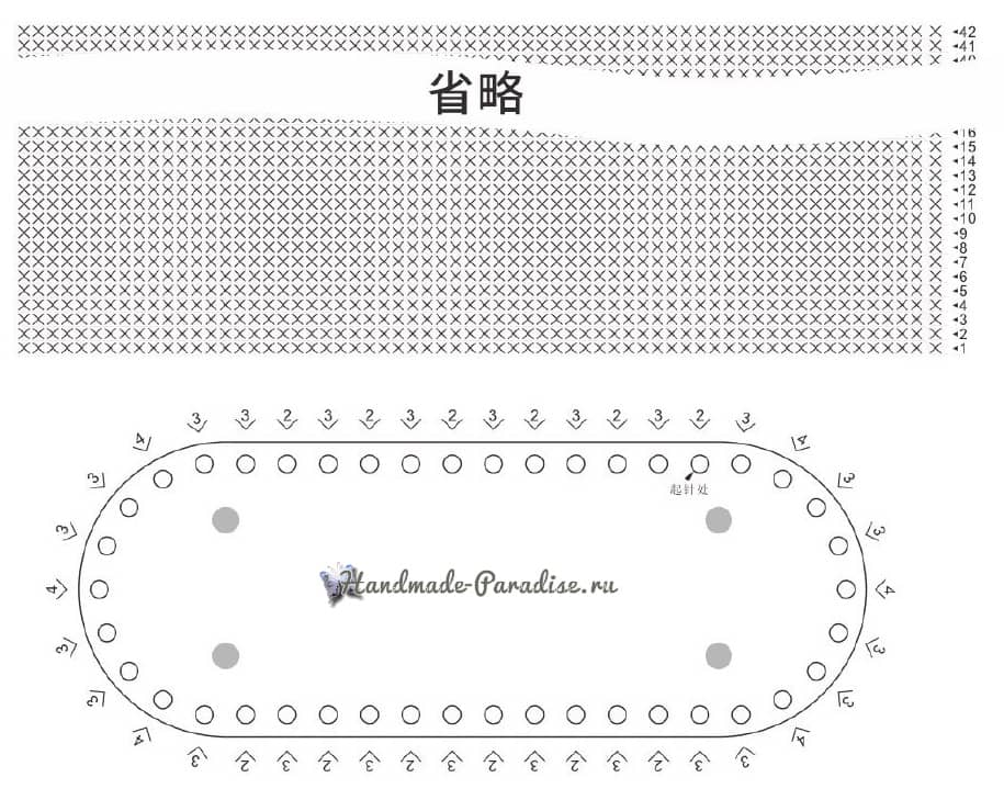 Вязание летней сумки с кожаным дном (4)