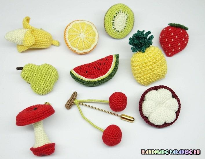 Вязаные крючком фрукты. Схемы (2)