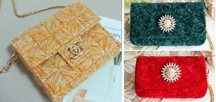 Сумочки из пластиковой канвы с вышивкой (2)