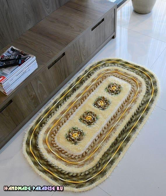 Вязаный коврик в стиле Милитари (2)